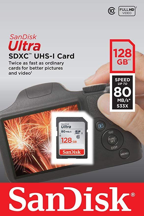 SanDisk Ultra R80 SDXC 64GB / 128GB, UHS-I, Class 10