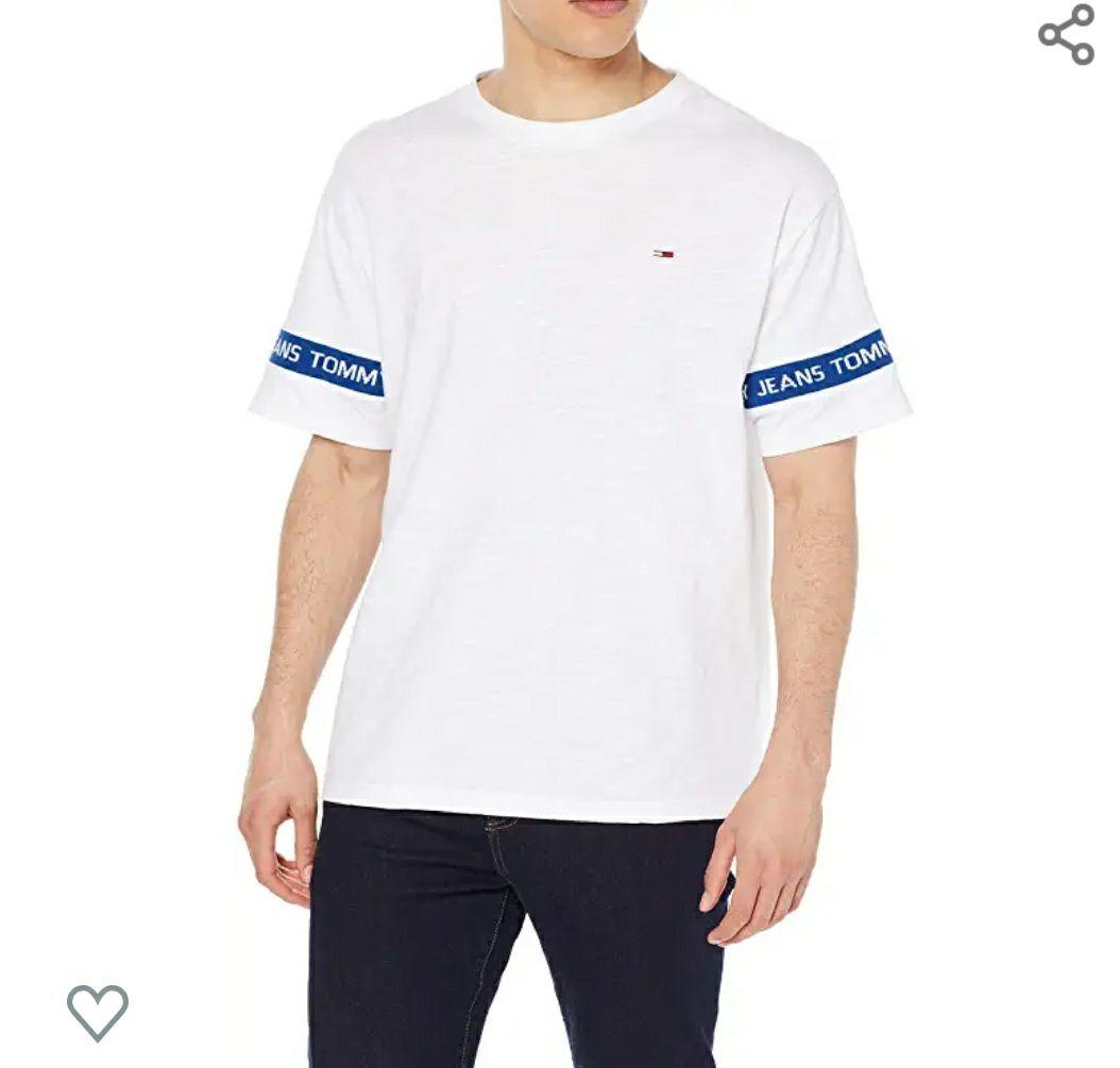 Tommy Hilfiger T-Shirt Größe L Blau/Weiß