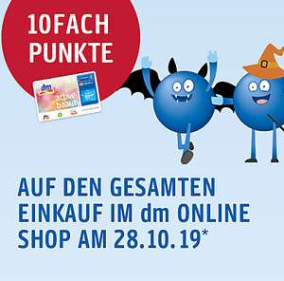 Am 28.10. 10FACH Punkte* auf Ihren gesamten Einkauf erhalten!