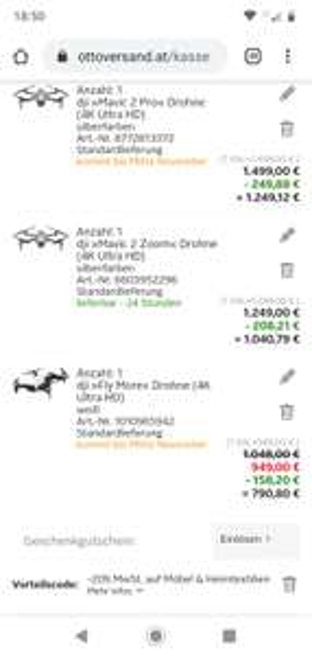 Einige Dji Produkte - 16,67% vom Kaufpreis