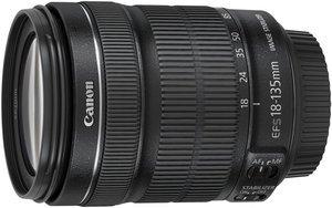 Canon EF-S 18-135mm 3.5-5.6 IS STM mit EW-73B und LC-Kit schwarz