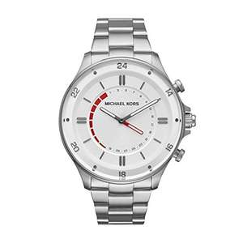 Michael Kors Herren Analog Quarz Uhr mit Edelstahl Armband MKT4013
