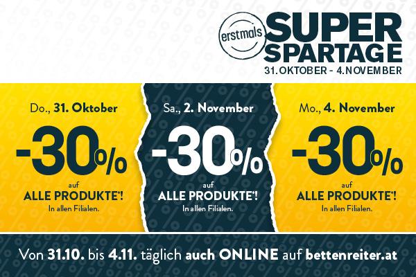 [Betten Reiter] 3 SUPER SPARTAGE -30%
