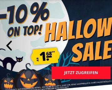 -10% Halloween-Extrarabatt auf bereits reduzierte Artikel
