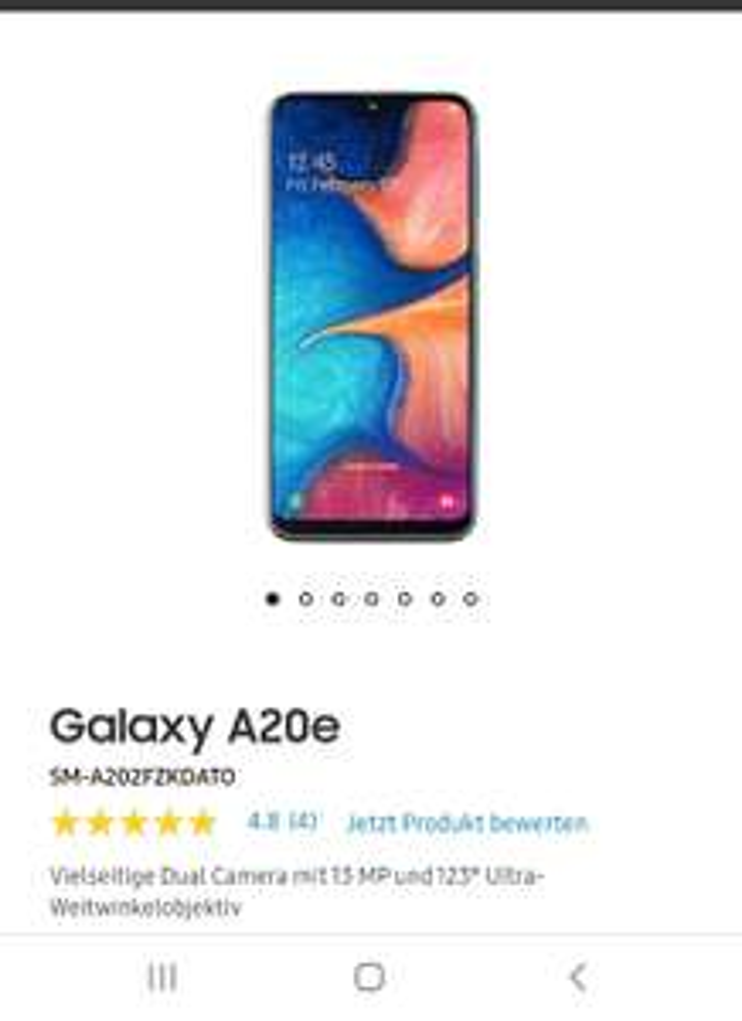 Samsung Galaxy A10/A20e