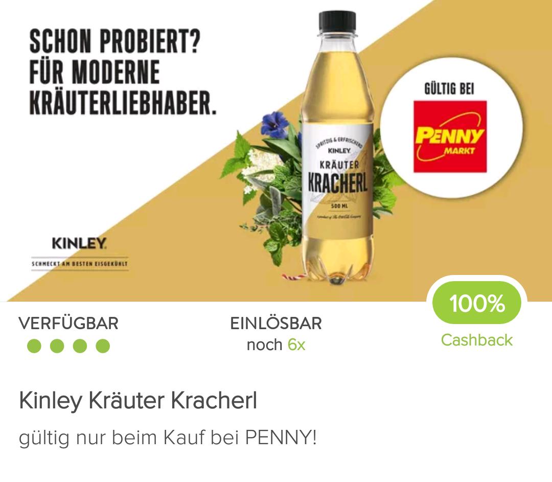 6x gratis Kinley Kräuterkracherl