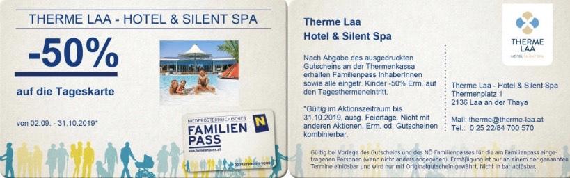 [LOKAL] NUR NOCH HEUTE!! Therme Laa Hotel & Spa -50% auf die Tageskarte
