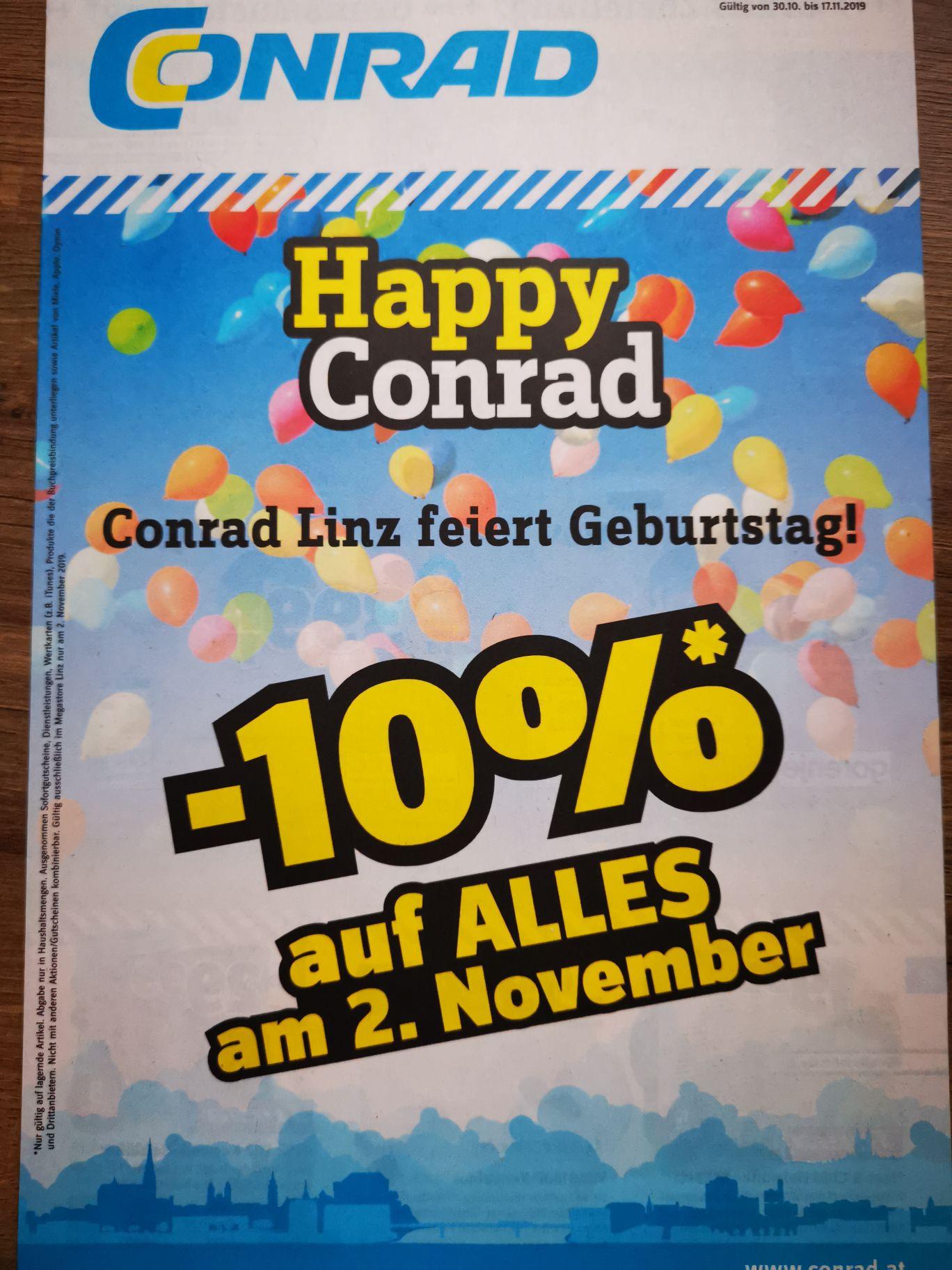 10%auf Alles am 2 November
