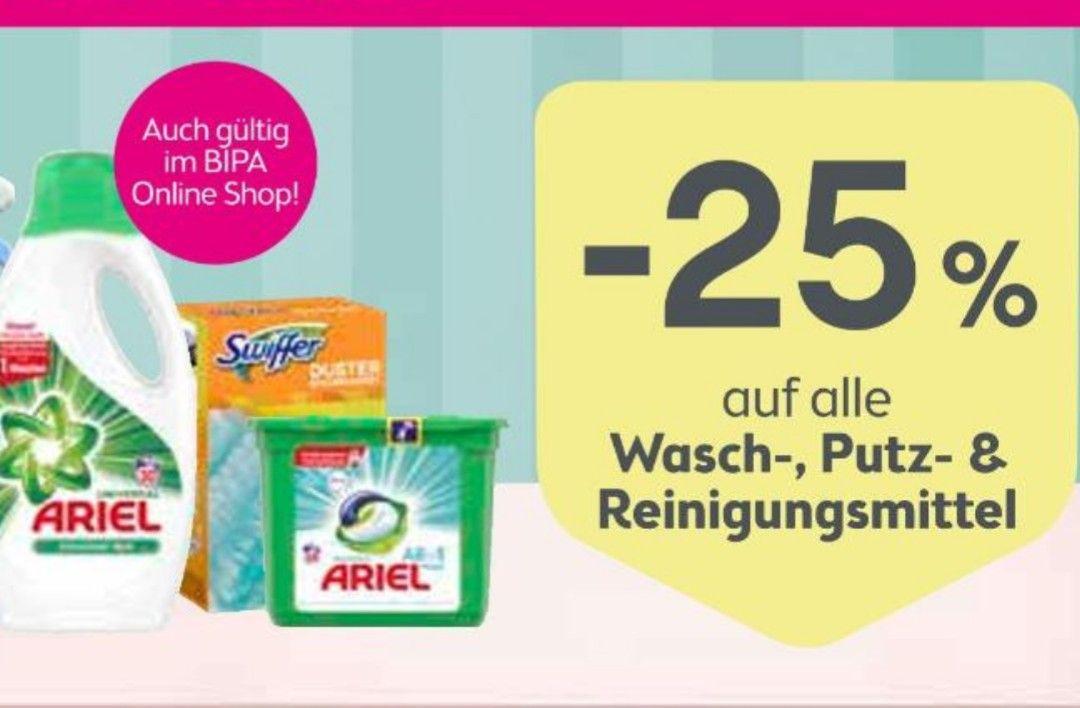 BIPA - 25% auf Wasch-, Putz- und Reinigungsmittel