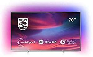Philips Ambilight 70 Zoll Smart TV Hellsilber