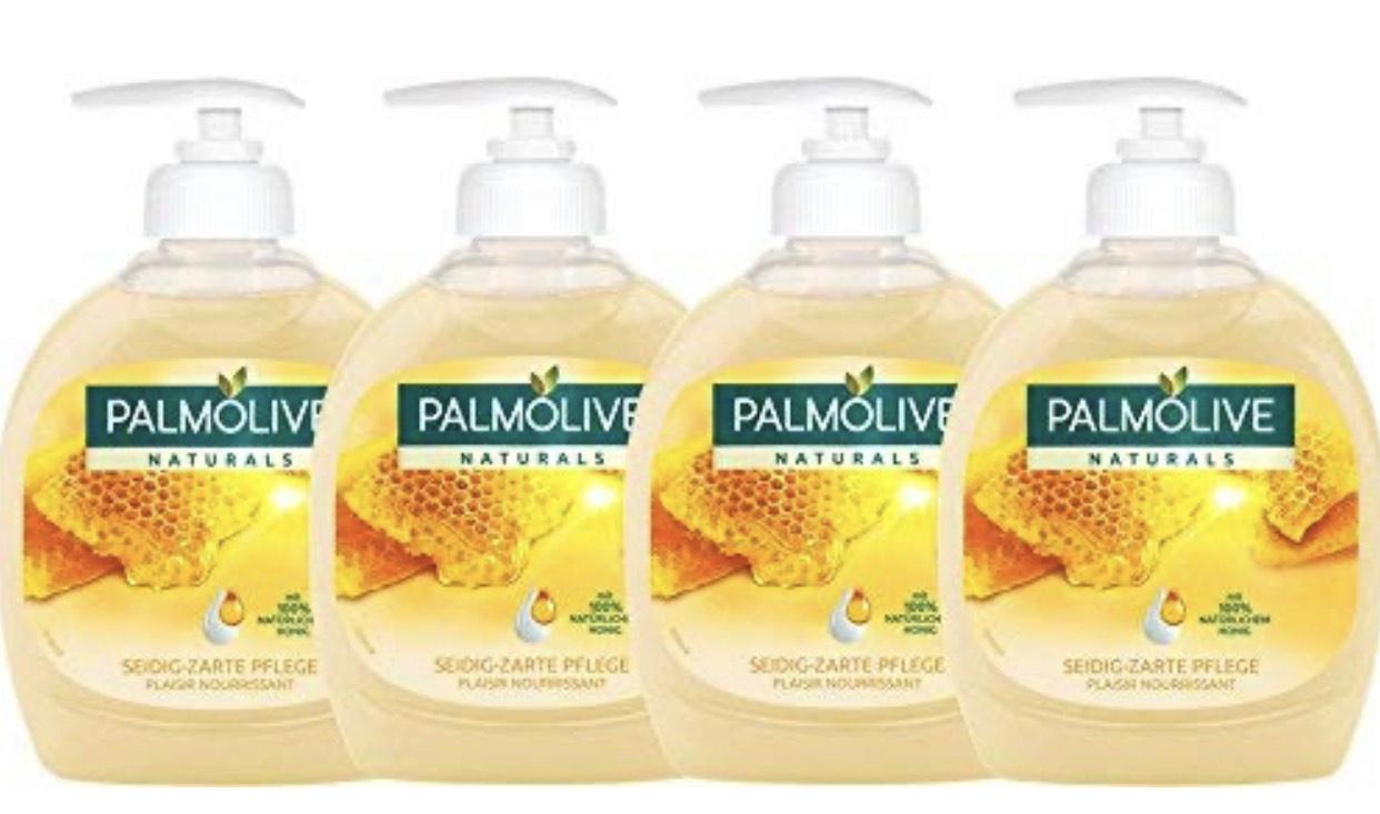 Palmolive Flüssigseife Milch und Honig, 4er Pack