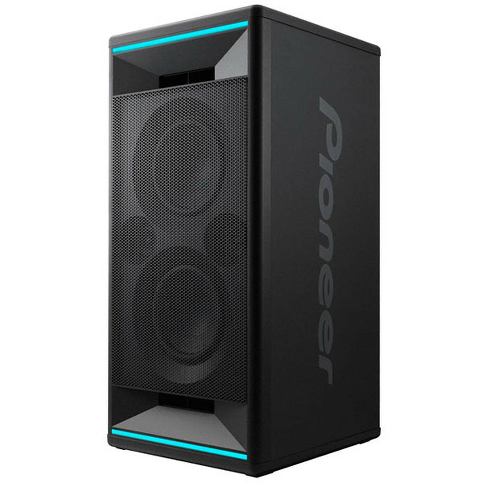 Pioneer Club7: Bluetooth Lautsprecher (2-Wege, 2x 5cm Hochtöner, 2x 18cm Tieftöner, 100W/100W, LED Beleuchtung)
