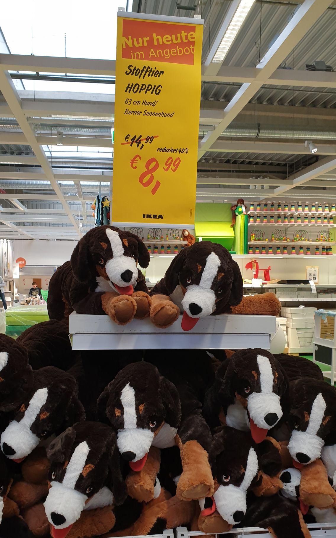 HOPPIG Plüschhund 63 cm groß. / IKEA SALZBURG