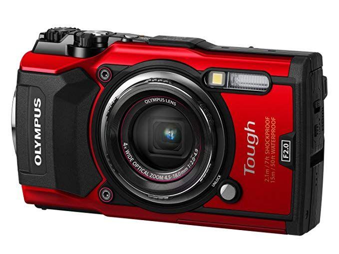 Olympus Tough TG-5 Digitalkamera (12 MP, 25-100 mm 1:2,0 Objektiv, GPS, Manometer, Temperatursensor, Kompass) (PVG: schwarz, rot: 398,90 €)
