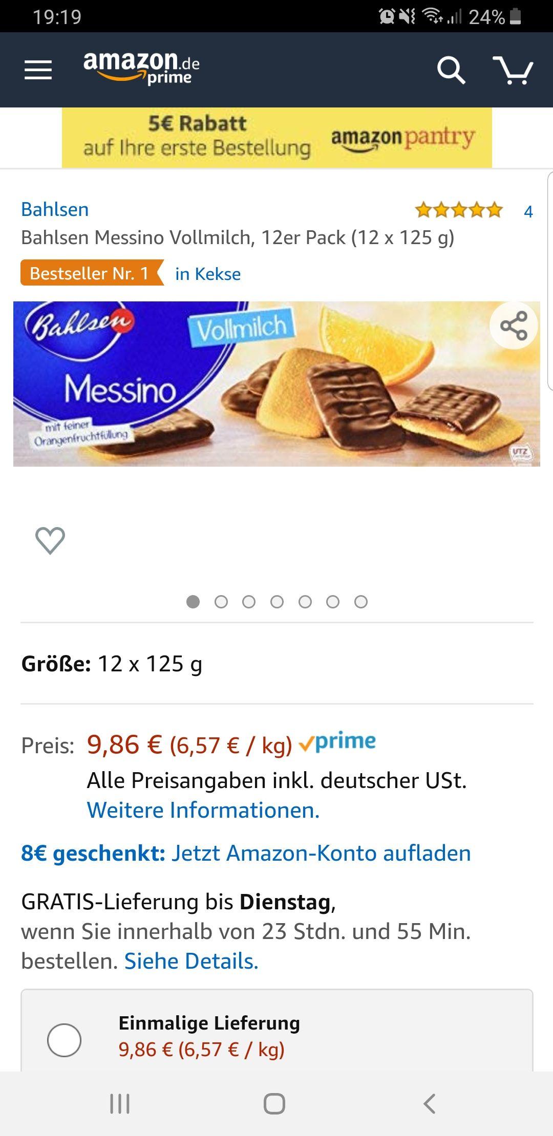 Bahlsen MessinomitVollmilchim12er Pack