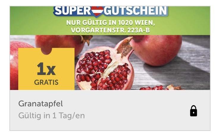 Lidlplus: Gratis Granatapfel in Vorgartenstrasse 223