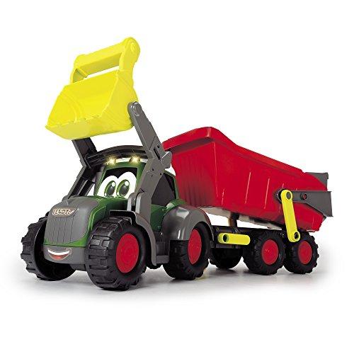 Dickie Toys Spielzeugtraktor inkl. Anhänger für Kleinkinder mit Licht-und Soundfunktion