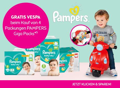 Gratis Chicco Vespa beim Kauf von 4 Packungen (Gigapack) Pampers bei BIPA