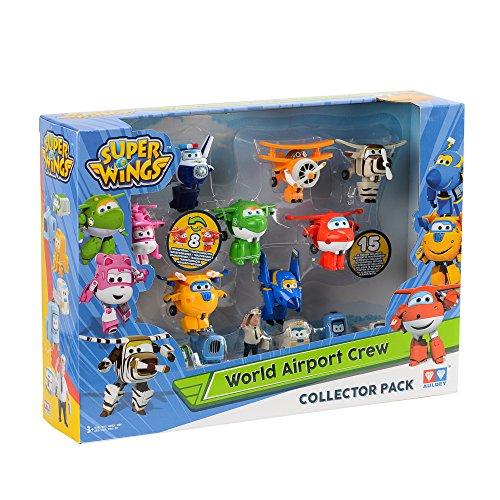 [Weihnachtsjäger] Super Wings World Airport Crew - Serie 1 Sammelpackung - 15 Spielzeugfiguren