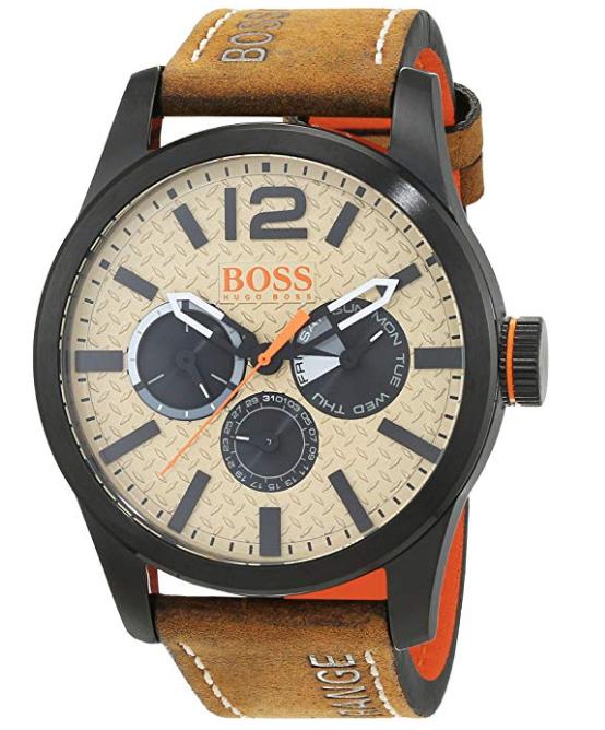 "Hugo Boss ""Paris"" Herren Chronograph (Quartz) mit braunem Leder Armband"