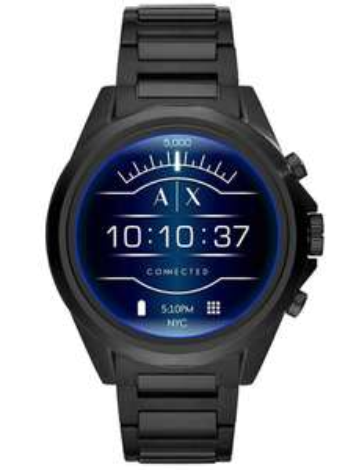 Armani Exchange Herren-Smartwatch mit Edelstahl Armband