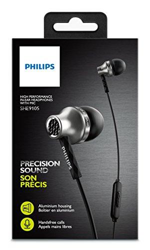 Philips SHE9105S - In-Ear Kopfhörer mit Mikrofon (silber)