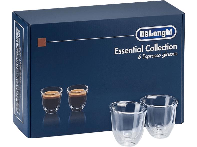 DeLonghi Espresso doppelwandige Thermogläser-Set, 6-tlg. (DLSC300) oder DLSC301 für 19 €