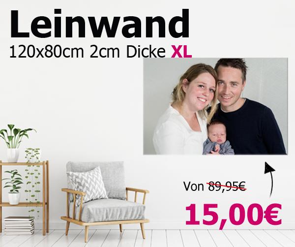 XL-Leinwand 120x80 2cm Dicke fur 25,95€ incl. VSK