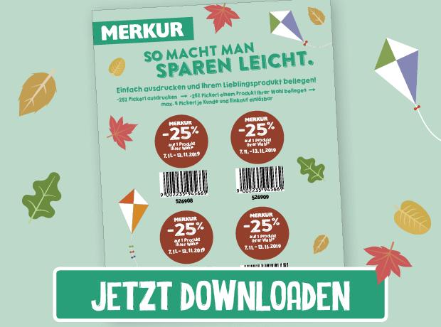 Merkur -25% Rabatt-Pickerl Online (07.11. bis 13.11 2019)