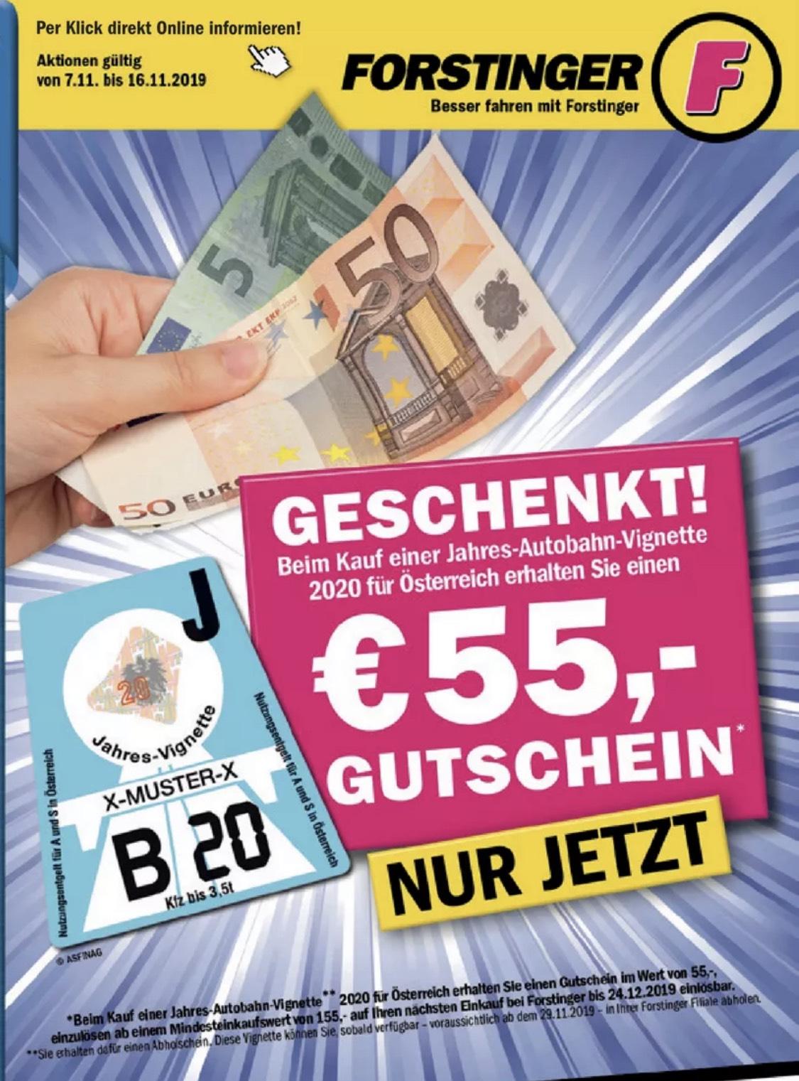 55€ Gutschein bei Kauf einer Jahresvignette