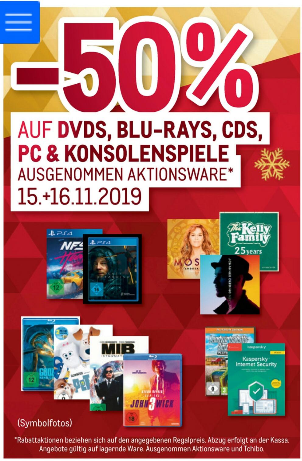 [METRO] -50% auf alle PC & Konsolenspiele inkl. PS4 , Blu-ray, CD's und DVD's
