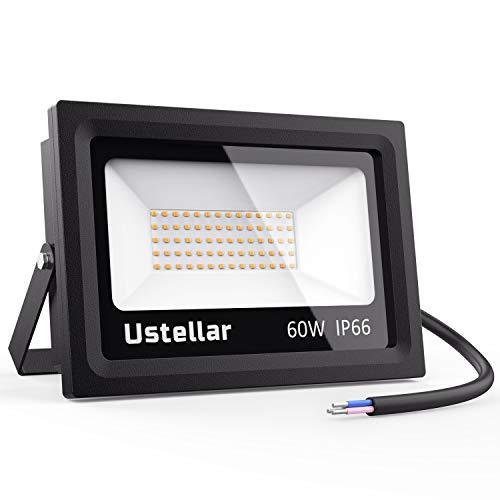 Ustellar 60W LED Strahler außen Warm oder Kaltweiß Einzel oder Doppelpack