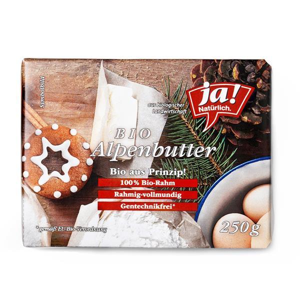 Bio Butter oder Bio Alpenbutter 250 g ab 2 Stück