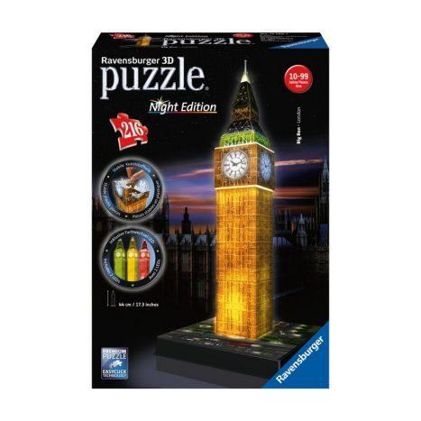 Ravensburger 3D Puzzle-Bauwerke Big Ben bei Nacht oder Empire State Building bei Nacht