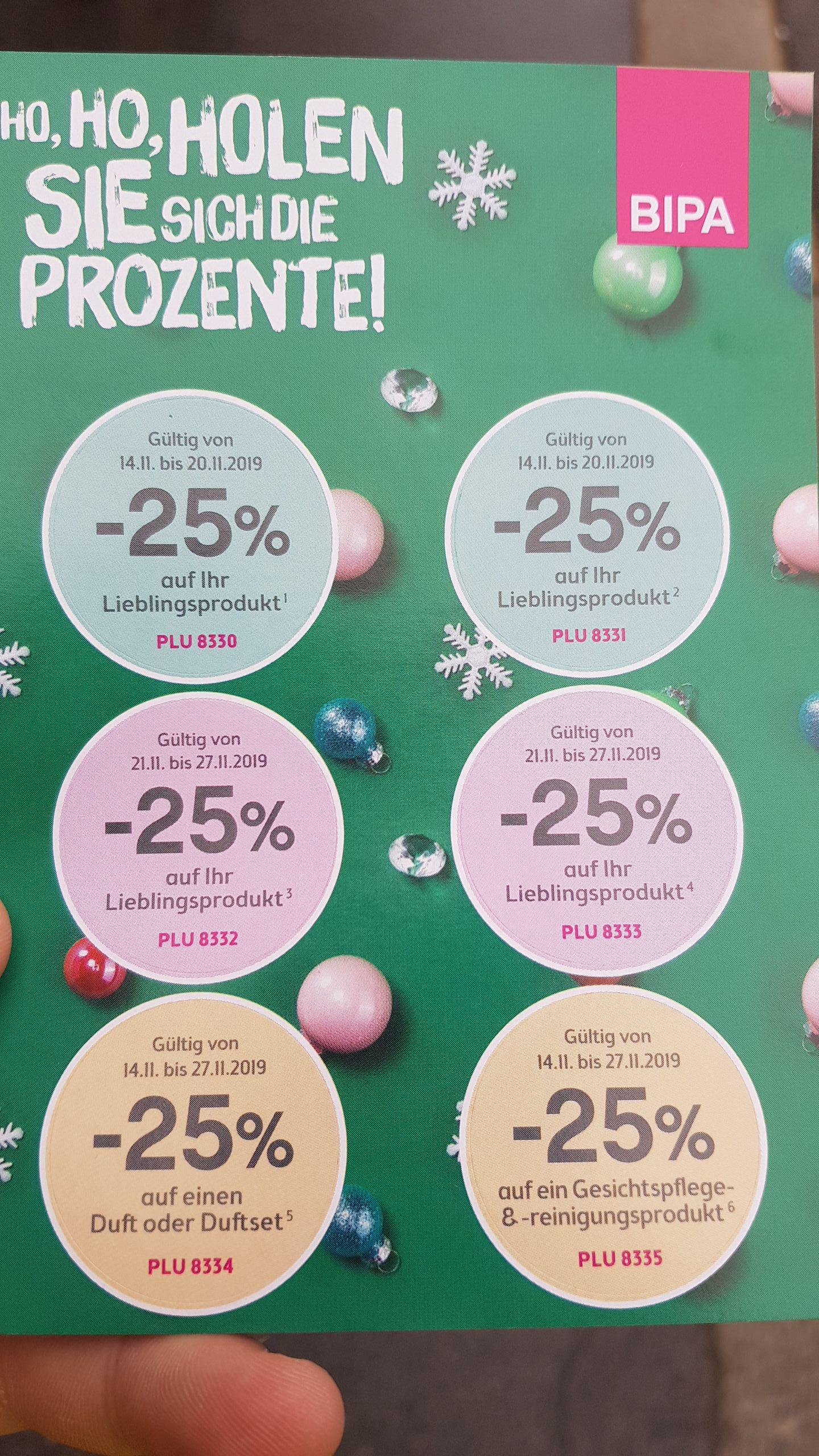 25% Rabatt ab nächste Woche bei Bipa für ein Lieblingsprodukt