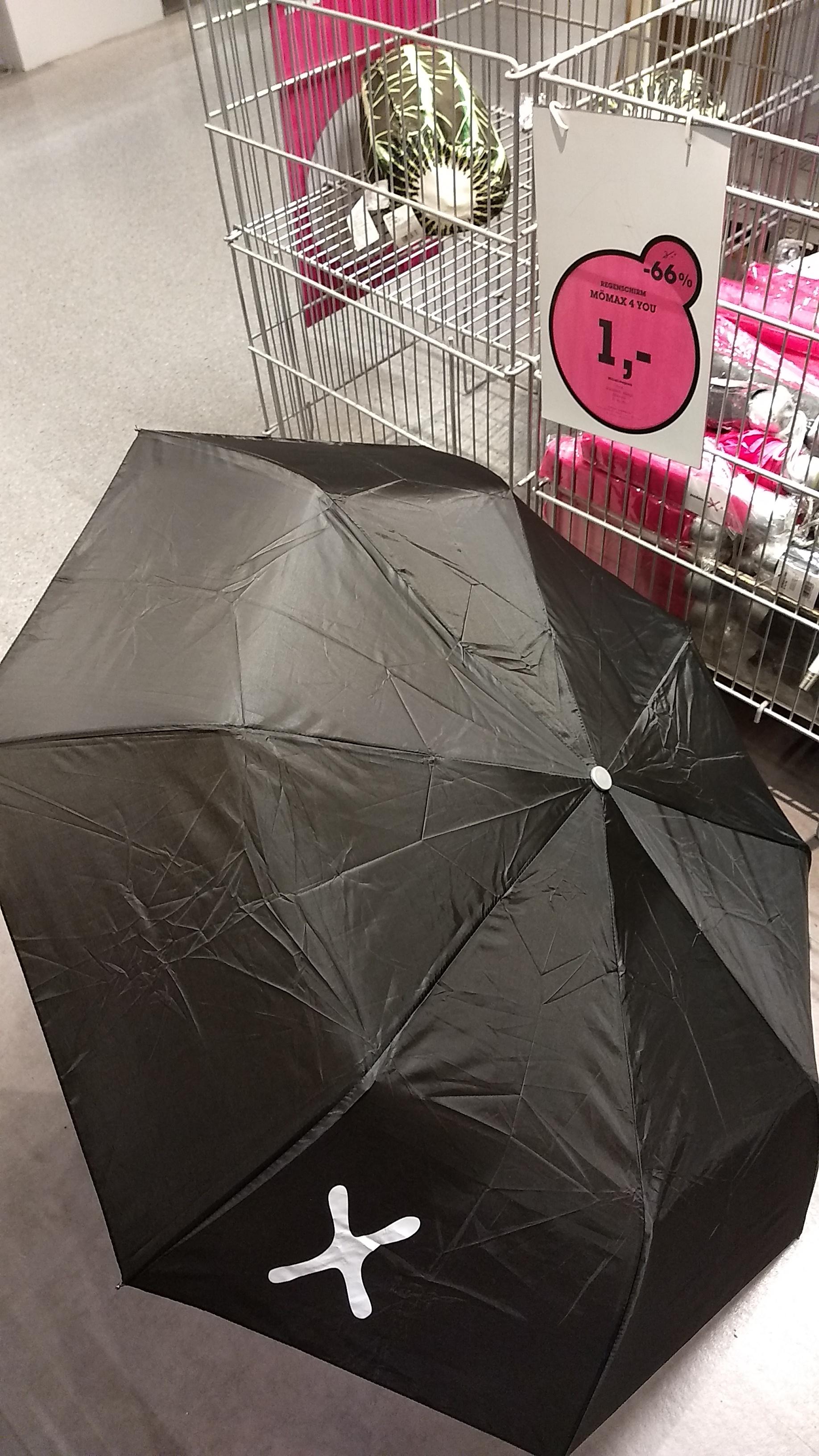 """Taschen-Regenschirm """"knirpsartige Ausführung"""": 1,-"""