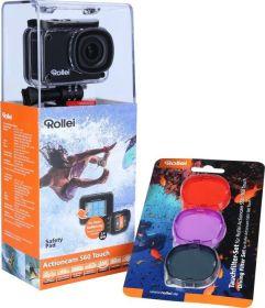 Rollei Actioncam 560 Touch (WiFi, 4k, 60FPS, Unterwasserfilter, viel Zubehör)