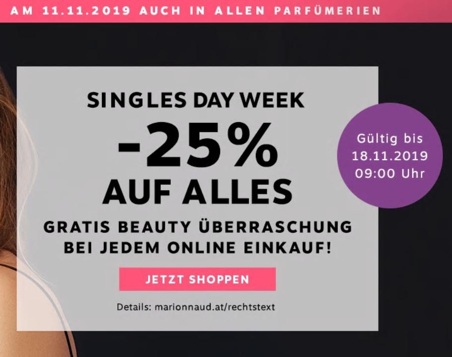 [Marionnaud] 25% auf Alles plus Beauty Überraschung (online sogar bis 18.11.)