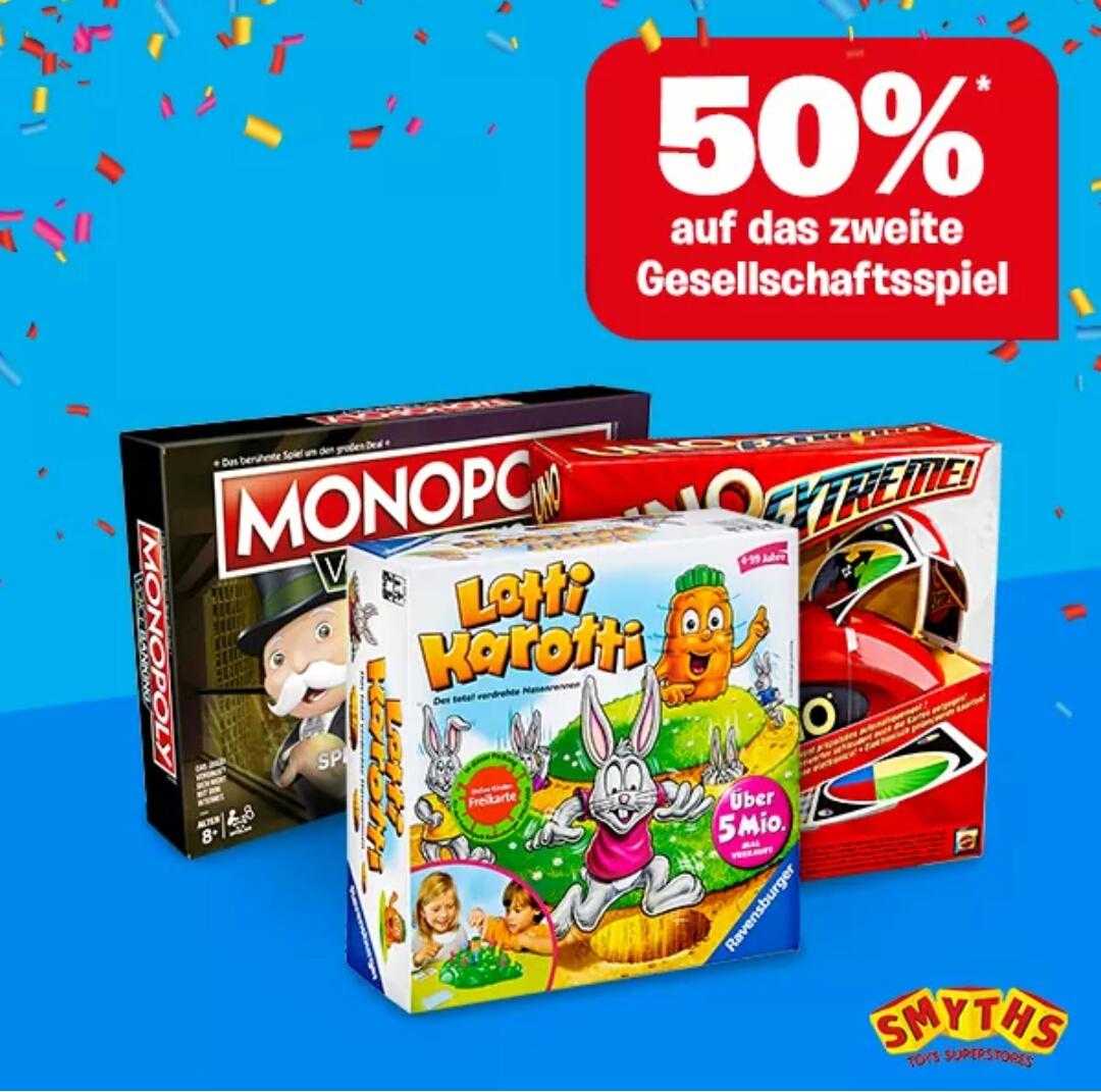 -50% auf das zweite günstigere Gesellschaftsspiel