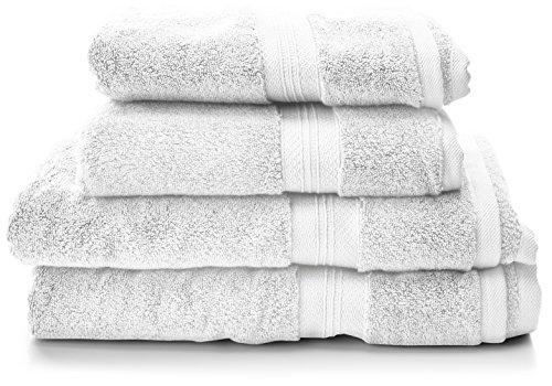 Amazon Pinzon Handtücher aus Pima-Baumwolle (2 Badetücher + 2 Handtücher)