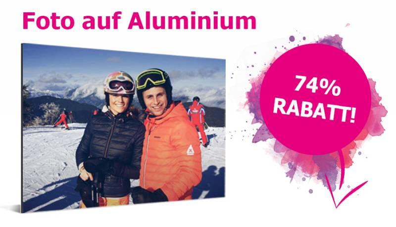 Foto auf Aluminium 74% Rabatt auf alle Formate