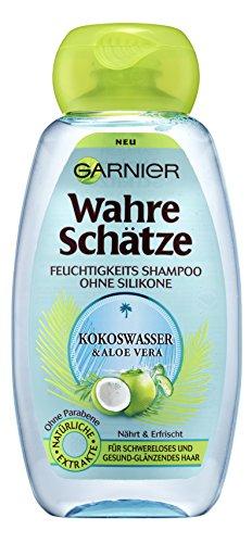 www.AMAZON.de l Beauty-Jäger l Garnier Wahre Schätze Feuchtigkeits Shampoo Kokoswasser und Aloe Vera 6er-Pack (6 x 250 ml)