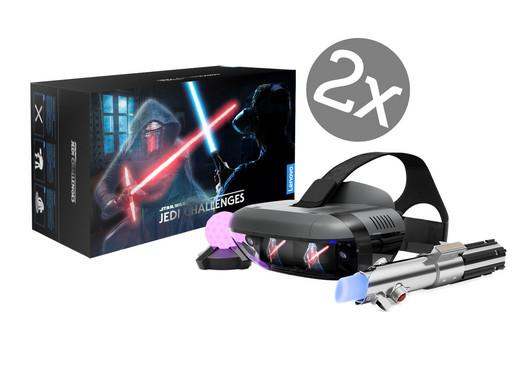 2x Star Wars Jedi Challenges Augmented-Reality-Paket mit Headset, Lichtschwert und Peilsender