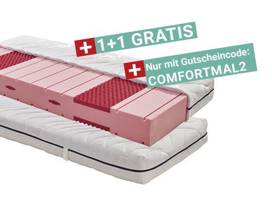 1 + 1 Gratis Comfortschaummatratze