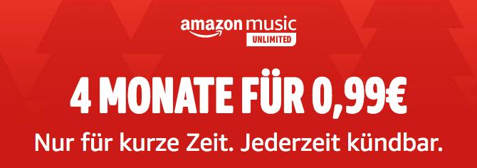 Amazon Music Unlimited: 4 Monate um 0,99€