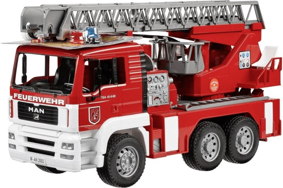 Bruder MAN Feuerwehr mit Drehleiter, Wasserpumpe und Licht & Sound Modul