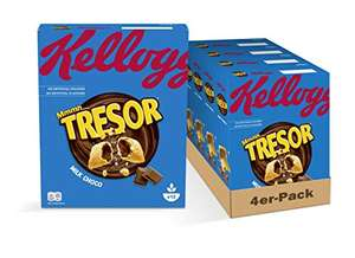 4x Kellogg's Tresor Milk Chocolate