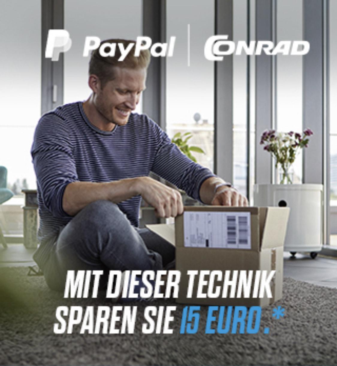 Conrad.at 15€ Rabatt ab 55€ MBW bei Zahlung via PayPal