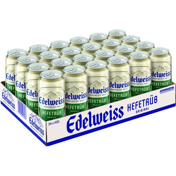 Edelweiss Hefetrüb Tray à 24 x 0,5 l Dose