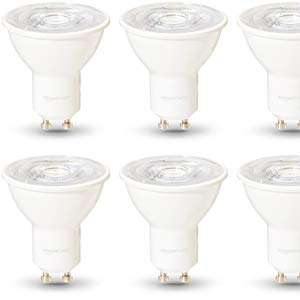 [Amazon] - 6x Amazon Basics GU10 Spots warmweiß, 4.8 Watt, dimmbar